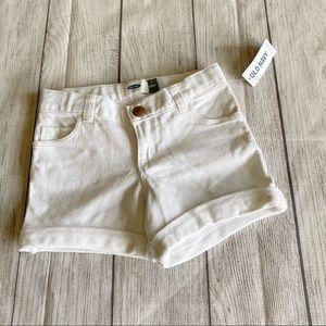 NWT Old navy white denim shorts